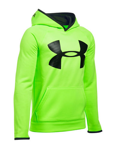 Under Armour Storm Armour Fleece Highlight Big Logo Hoodie-FUEL GREEN-X-Large 88509522_FUEL GREEN_X-Large