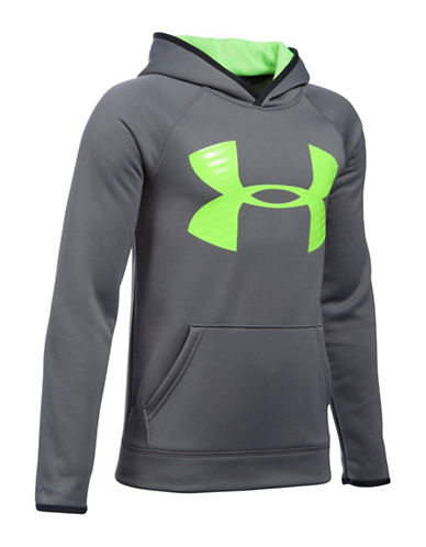 Under Armour Fleece Highlight Big Logo Hoodie-SILVER-X-Large 88683431_SILVER_X-Large