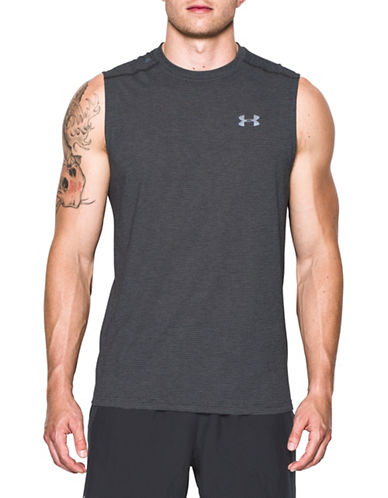 Under Armour Threadborne Streaker Tank Top-GREY-Medium 89162973_GREY_Medium