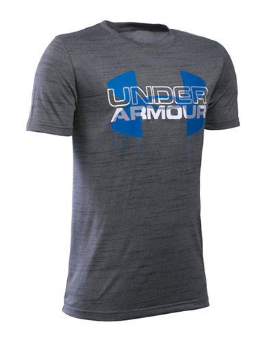 Under Armour Big Logo Hybrid Tech T-Shirt-GRAPHITE-X-Large 88630145_GRAPHITE_X-Large