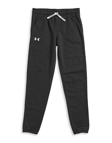 Under Armour Favourite Fleece Jogger Pants-BLACK-Large 88508020_BLACK_Large