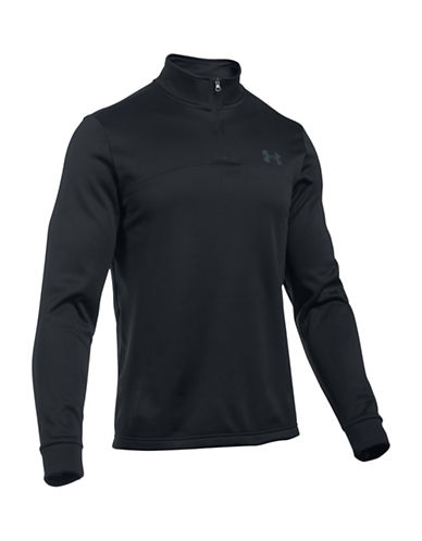 Under Armour Fleece Core Icon Quarter-Zip Jacket-BLACK-X-Large 88641921_BLACK_X-Large
