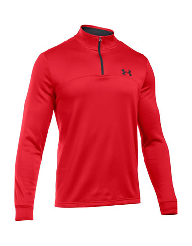 Under Armour Fleece Core Icon Quarter-Zip Jacket-RED-Large 88641930_RED_Large