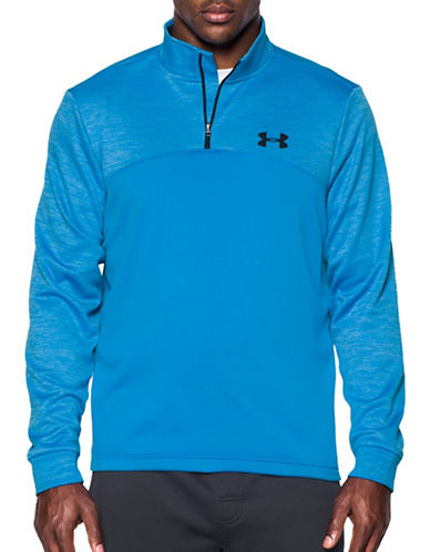 Under Armour Zippered Fleece Pullover-BRIL BLUE-Small 88790508_BRIL BLUE_Small