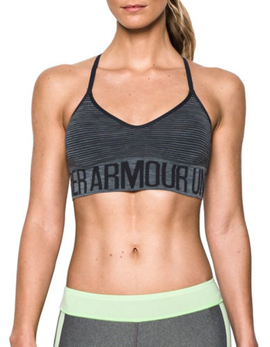 Under Armour UA Seamless Feeder Stripe Sports Bra-CARBON HEATHER-Small 88724858_CARBON HEATHER_Small