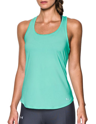 Under Armour Fly By  Racerback Tank Top-CRYSTAL-X-Small 88913228_CRYSTAL_X-Small