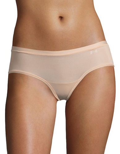 Under Armour Pure Stretch Sheer Hipster Panty-BROWN-X-Small