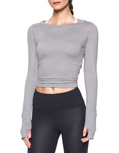 Under Armour Wishbone Crop Top-GREY HEATHER-X-Large 88594077_GREY HEATHER_X-Large