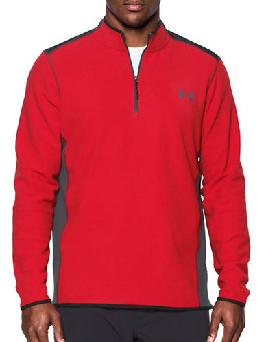 Under Armour Fleece Half Zip Sweatshirt-RED-Medium 88863355_RED_Medium