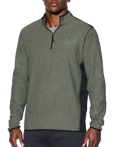 Under Armour Fleece Half Zip Sweatshirt-GREEN-Large 88863351_GREEN_Large
