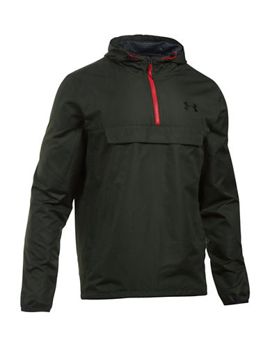 Under Armour Sportstyle Anorak Logo Hoodie-GREEN-Small 88641893_GREEN_Small