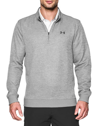 Under Armour Storm Half-Zip Sweater-GREY-Small