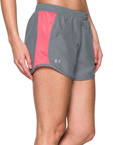 Under Armour Fly By Perf Short-GREY-X-Large 88511672_GREY_X-Large