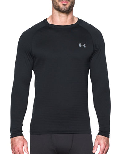 Under Armour UA Base 2.0 Crew Neck Top-BLACK-Medium 88762628_BLACK_Medium