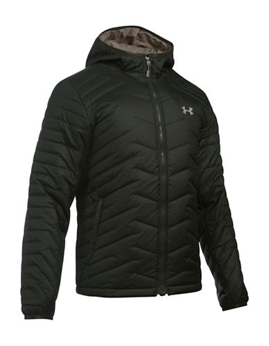 Under Armour Storm ColdGear Hooded Jacket-GREEN-Large 88592950_GREEN_Large
