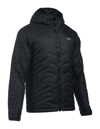 Under Armour Storm ColdGear Hooded Jacket-BLACK-Medium 88592939_BLACK_Medium