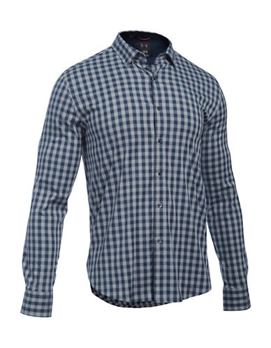 Under Armour Performance Woven Check Shirt-GREY-Medium 88641829_GREY_Medium
