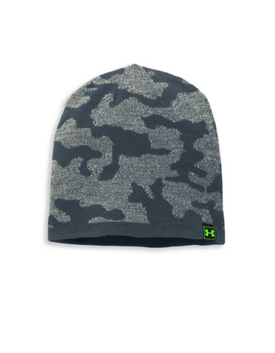 Under Armour Camo Reversible Beanie-GREY-One Size