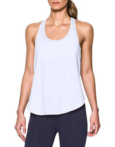 Under Armour Essential Racer Tank-WHITE-X-Small 88511663_WHITE_X-Small