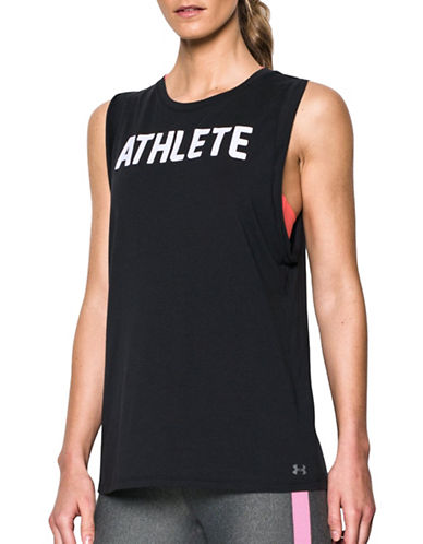 Under Armour Athlete Tank Top-BLACK-X-Small 88840445_BLACK_X-Small