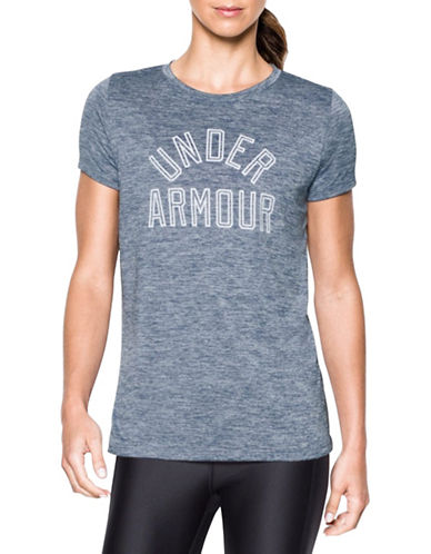 Under Armour Heathered Twist Graphic T-Shirt-BLUE-Medium 88511609_BLUE_Medium