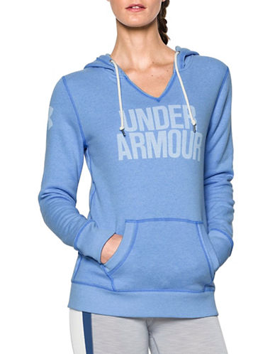 Under Armour Favourite Fleece Popover Wordmark Sweatshirt-WATER-X-Large 88777464_WATER_X-Large
