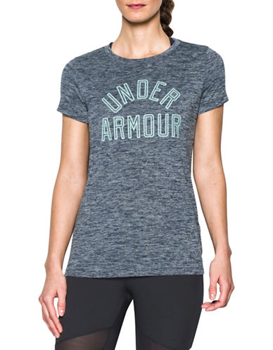 Under Armour Heathered Twist Graphic T-Shirt-BLUE-Medium 88511599_BLUE_Medium