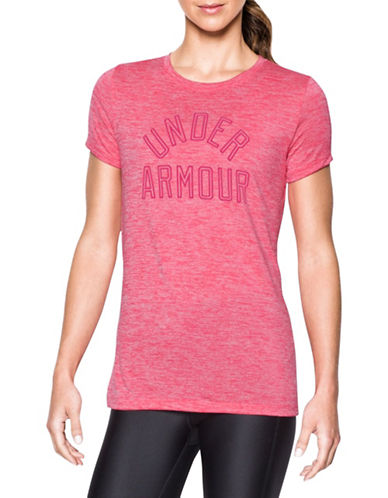 Under Armour Heathered Twist Graphic T-Shirt-PINK-X-Large 88511606_PINK_X-Large