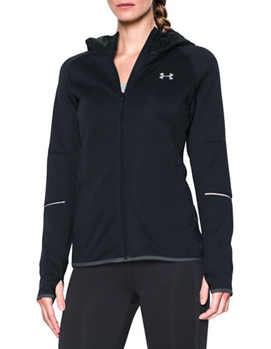 Under Armour Long Sleeve Zippered Hoodie-BLACK-Large 88675670_BLACK_Large