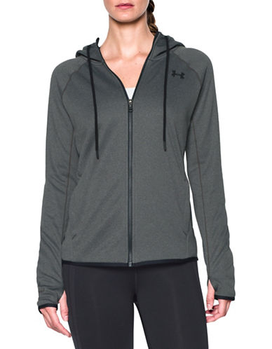 Under Armour Solid Long Sleeve Hoodie-GREY-X-Small 88675652_GREY_X-Small