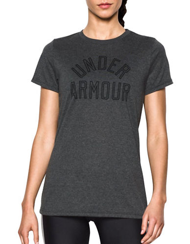 Under Armour Tech Wordmark T-Shirt-CARBON HEATHER-Small 88777430_CARBON HEATHER_Small
