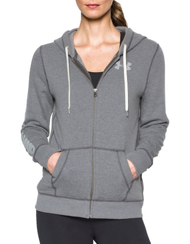 Under Armour Favourite Fleece Full Zip Sweatshirt-CARBON HEATHER-X-Large 88777478_CARBON HEATHER_X-Large