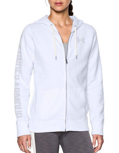 Under Armour Favorite Fleece Full Zip Sweatshirt-WHITE-X-Large 88840421_WHITE_X-Large