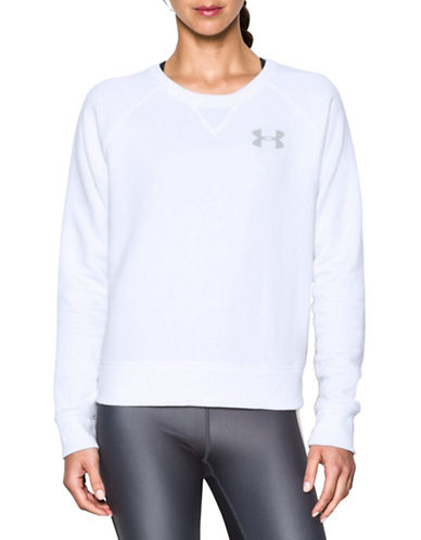 Under Armour Favorite Fleece Sweatshirt-WHITE-Medium 88511645_WHITE_Medium