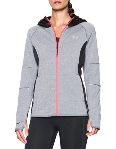 Under Armour Long Sleeve Zippered Hoodie-GREY-Large 88675675_GREY_Large