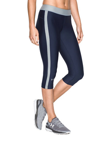 Under Armour HeatGear Armour Sport Cropped Leggings-BLUE-Medium 88675684_BLUE_Medium