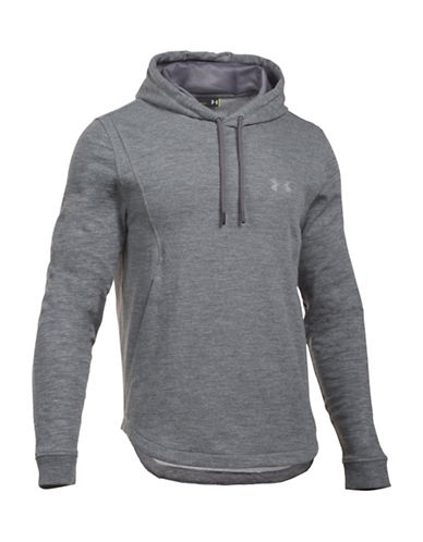 Under Armour Core Baseline Fleece Hoodie-TRUE GREY-Medium 88641864_TRUE GREY_Medium