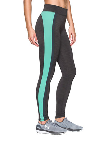 Under Armour ColdGear Striped Leggings-CARBON HEATHER-Medium 88913240_CARBON HEATHER_Medium