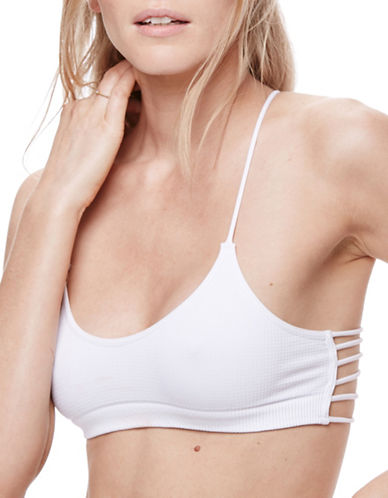 Free People Strappy Side Racerback Bralette-WHITE-X-Small/Small