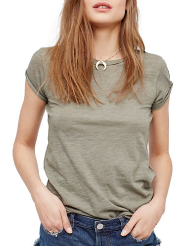 Free People Clare Tee-GREEN-X-Small 89288189_GREEN_X-Small