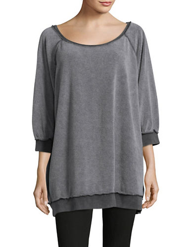 Free People Washed Sweatshirt-BLACK-Large