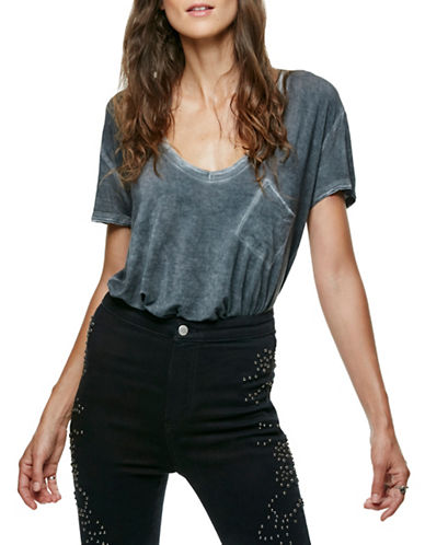 Free People Rising Sun T-Shirt-BLACK-Small