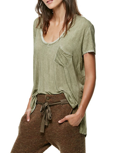 Free People Rising Sun T-Shirt-GREEN-Small