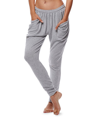 Free People Draped Tapered Jogger Pants-GREY-Medium 88879521_GREY_Medium