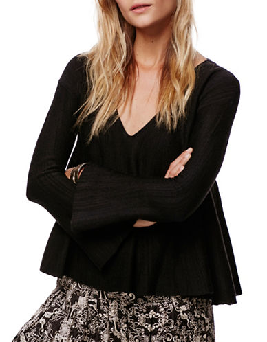 Free People Sundae Pullover-BLACK-X-Small