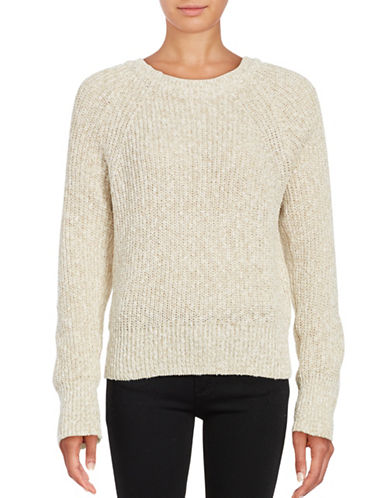 Free People Electric Knit Sweater-WHITE-X-Small