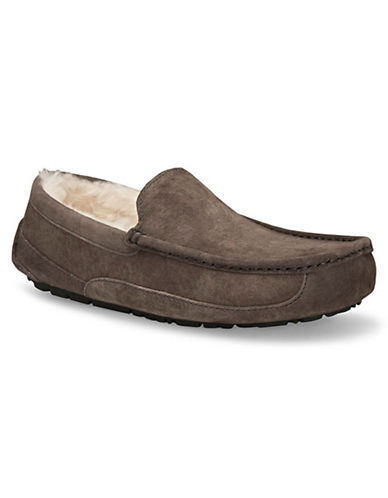Ugg Mens Ascot Slippers-CHARCOAL-8