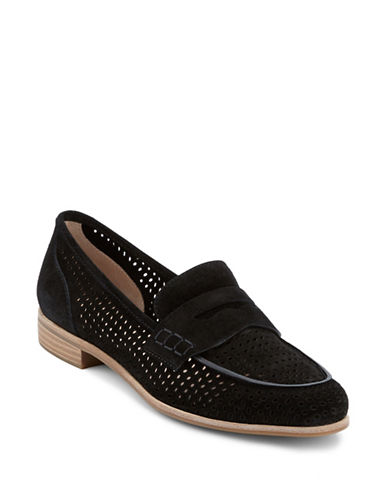 G.H. Bass Ellie Leather Penny Slot Loafers-BLACK-7.5