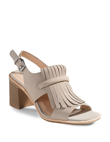 G.H. Bass Kilted Heeled Sandals-GREY-8