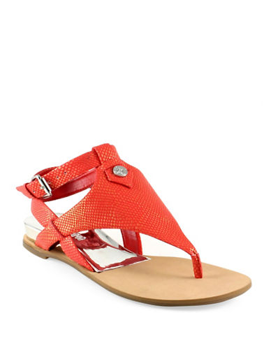Guess Lacie Wedge Sandals-RED-6.5